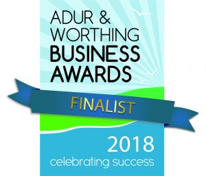 Adur and Worthing Business Award finalist 2018 logo