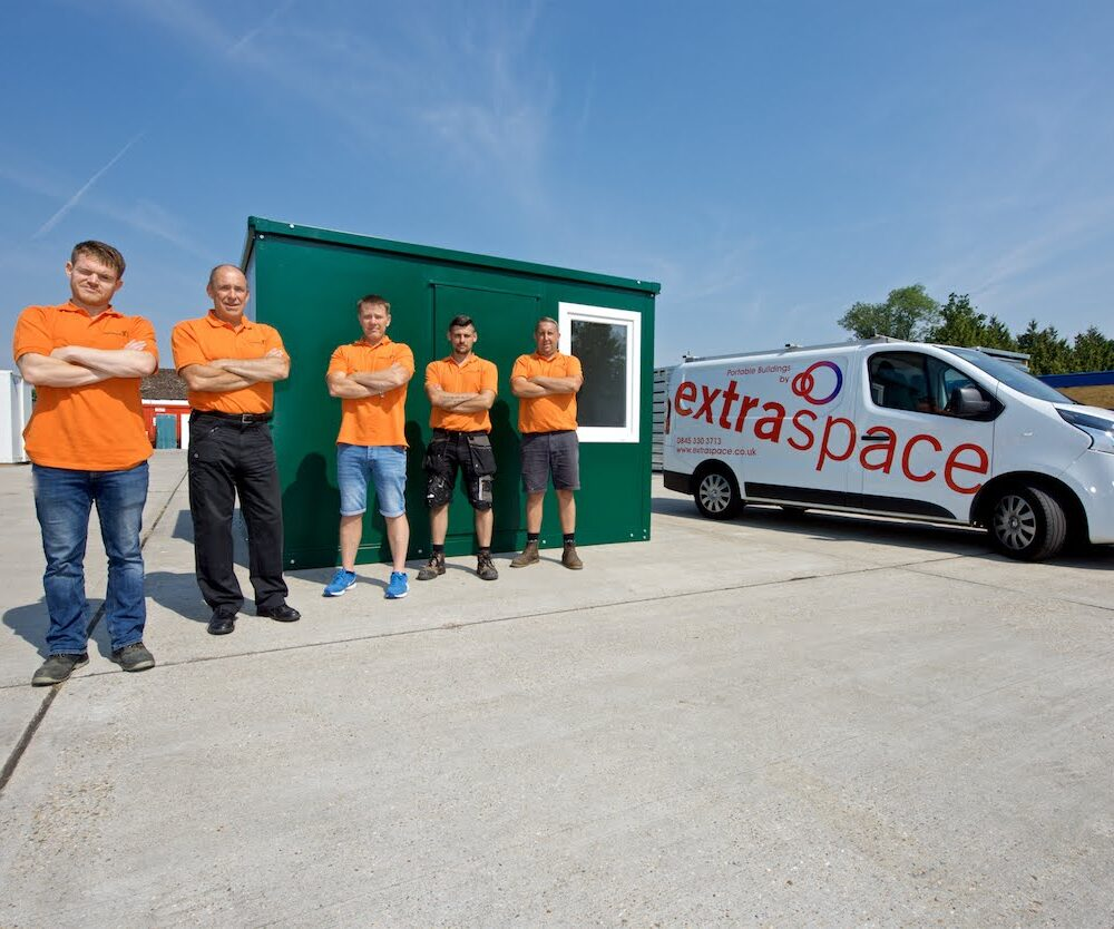 extraspace team, cabin and van