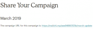 share mailchimp campaigns