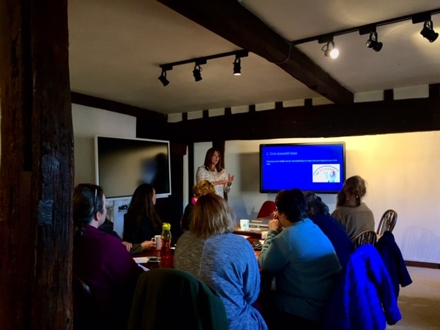 Seaside Creative Kelly O'Haire delivers a training session