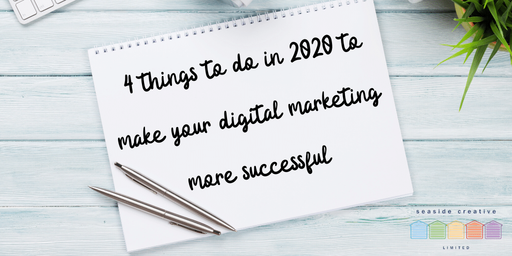 4 Things To Do In 2020 To Make Your Digital Marketing More Successful. Seaside Creative marketing agency Lancing logo