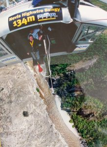 Kelly about to do the world's highest bungee jump